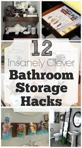 Clever Bathroom Storage Ideas by Best 25 Clever Bathroom Storage Ideas Only On Pinterest Clever