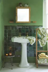 bathroom green and white tile floor dark green brick tiles green