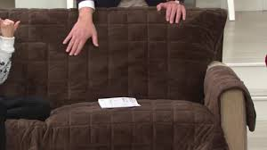 sure fit deluxe comfort recliner furniture cover w non skid