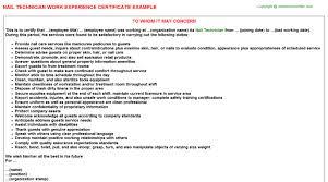 Resume Nail Technician Nail Technician Work Experience Certificate