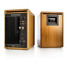 audioengine a5 powered bookshelf speaker system bamboo a5 n