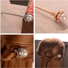 hair chopsticks women alloy pearl hair chopsticks hair stick hairpin chignon pin