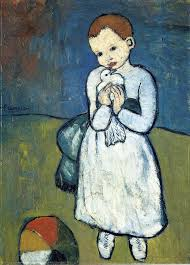 child with dove 1901 pablo picasso wikiart org