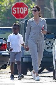 Sandra Bullock Son | sandra bullock gives her son louis an affectionate pat daily mail