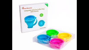 home shoppie 7oz collapsible silicone mug with handle youtube