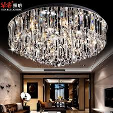 Crystal Flush Mount Ceiling Light Fixture by Modern Circular Crystal Surface Flush Mount Ceiling Lamp Stainless
