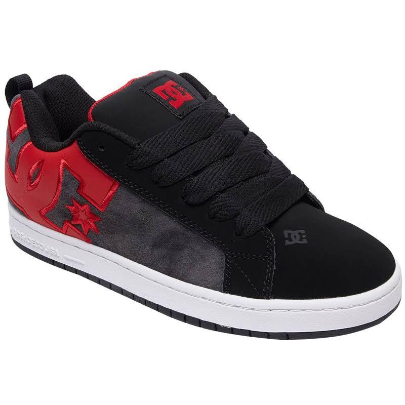 DC Court Graffik SE Black Nubuck & Suede Athletic Lace Up Skate Shoes