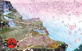 Cherry Blossom Map Okami Art