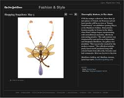 new york times home design show macklowe horn jewelry featured in the new york times fashion