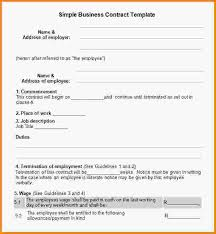 simple contract template 398700 png letter template word