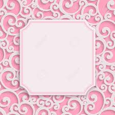 3d Invitation Card Vector Pink 3d Curl Valentines Day Greeting Or Wedding Invitation
