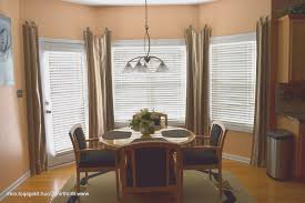 Dining Room Bay Window Treatments Living Room View Bay Window Curtains For Living Room Interior