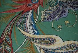 Cotton Linen Upholstery Fabric Clarence House Beauvoir Green Hand Print Floral Cotton Linen