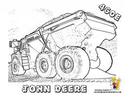 tractor coloring pages getcoloringpages within john deere tractor