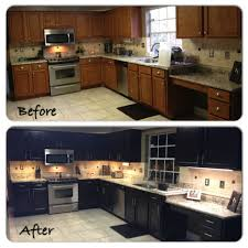 great kitchen redo of oak cabinets using general finishes http