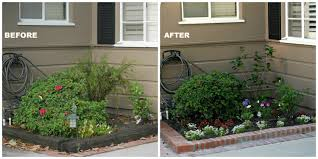 front yard planters before and after following friends before after small planter