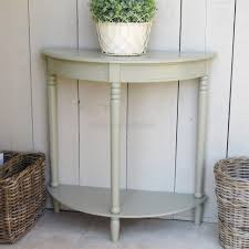 Half Moon Table Console Tables Appealing Distressed White Half Moon Console