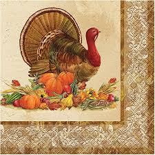 buy rustic turkey thanksgiving beverage napkins 24ct in cheap