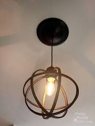Changing Recessed Lighting To Pendant Lighting In Metal Sphere Pendant Light Kitchen Lighting In The