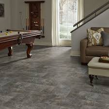 Laminate Flooring Slate Resilient Modular Slate Vinyl Floor For Basement Kitchen Foyer