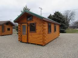 trophy amish cabins llc 10 x 20 bunkhouse cabinshown in the trophy amish cabins llc 10 x 20 lodge no porch display models