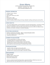 resume example skills and qualifications educational qualification in resume format free resume example cv 89 examples of resumes sample resume format for fresh graduates two