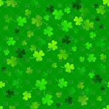 st patrick u0027s day background with clovers vector image 112391