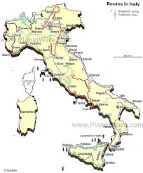italy map map of italian routes planetware