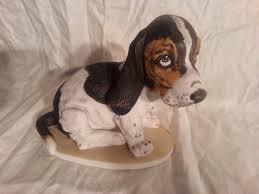 Home Interior Porcelain Figurines by Home Interior 1983 Porcelain Masterpiece Basset Hound Puppy Dog