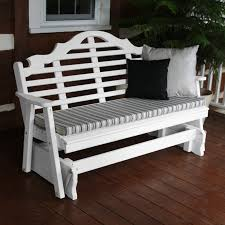 a u0026 l furniture yellow pine marlboro outdoor bench glider hayneedle