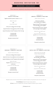 invitation wording etiquette wedding invitation wording and etiquette