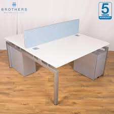 White Office Desks White Office Desks Brothers Office Furniture