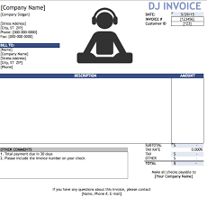 Microsoft Excel Templates For Mac Free Dj Disc Jockey Invoice Template Excel Pdf Word Doc