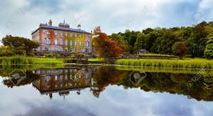 view of westport house seen from the lake county mayo ireland