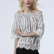 blouse tumbler tops 2017 blouse slash neck lace patchwork sleeve
