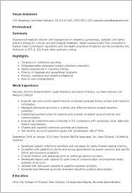 Full Resume Template Professional Medical Collector Templates To Showcase Your Talent