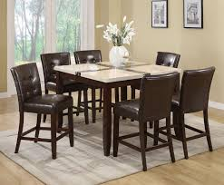 justin 7pc counter height dining set 16555 07055