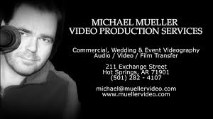 photographer and videographer michael mueller production services hot springs arkansas