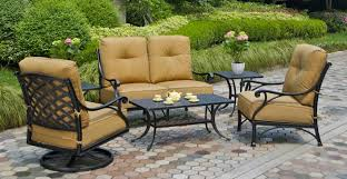 Black Outdoor Furniture by Hanamint Cast Aluminum Furniture Patiosusa Com