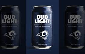 bud light in the can bud light unveils rams fan can