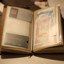 business card notebook shop travelers notebook traveler diary pvc zipper sheet