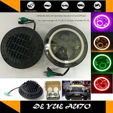 fj cruiser warning lights free shipping car led lights light sourcing 7 round headlights led