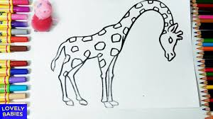 peppa pig toy and giraffe coloring page for kids fun and