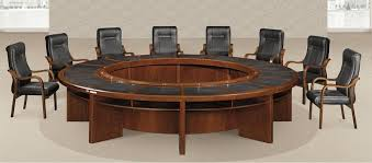 Big Meeting Table Big Size Modern Round Conference Table In Office Meeting Room