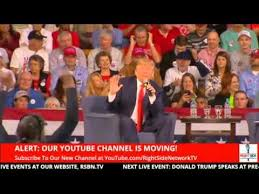 donald trump youtube channel donald trump getting trumped by my son at his rally in aiken sc