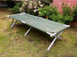 british army heavy duty aluminium frame folding camp bed strong