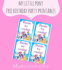 my little pony free birthday party printables delicate construction
