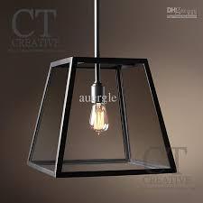 Black Iron Pendant Light 2018 American Wrought Iron Glass Pendant Light Brief Furniture