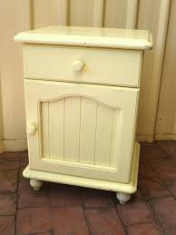 pine french country style shabby bedside table cupboard drawer