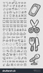 doodle edit doodle icons useful icons stock vector 185345741